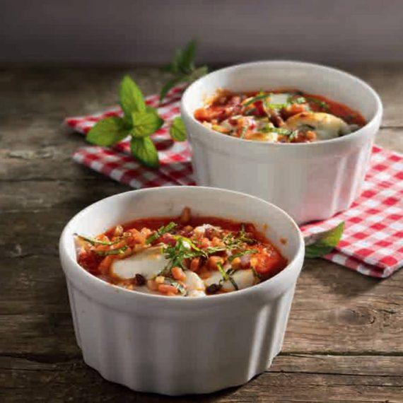 Köstlicher Snack mit Salsa Paradiso - gratinierter Ziegenkäse